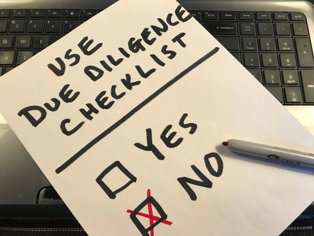 due diligence for real estate checklist